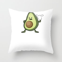 Rock Out with Your Guac Out – Funny Vegan Gift Throw Pillow