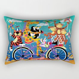 Ridin' Happy Gang Rectangular Pillow