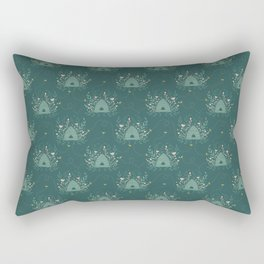 The Neighborhood Buzz - Dark Green Rectangular Pillow