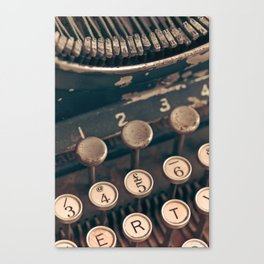 Vintage Typewriter - Macro Photography #Society6 Canvas Print