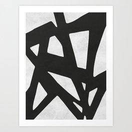 Black Expressionism IV Art Print