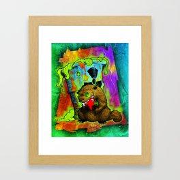 Radioactive Groundhog Eating an Apple Framed Art Print