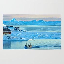 Icebergs in Disko Bay Rug