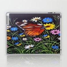 wild flowers and Butterflies Laptop & iPad Skin
