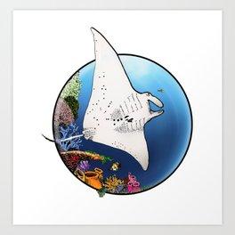 Manta Flight Art Print
