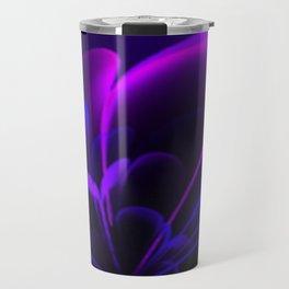 Stylized Half Flower Indigo Travel Mug