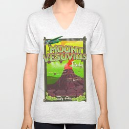 Mount Vesuvius Unisex V-Neck