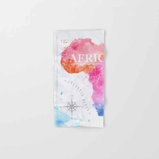 Color Africa Map Hand & Bath Towel
