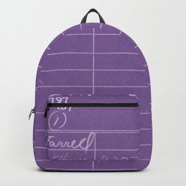 Library Card 797 Negative Purple Backpack