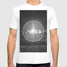 Flare MEDIUM Mens Fitted Tee White