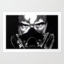 Respirator Guy Art Print