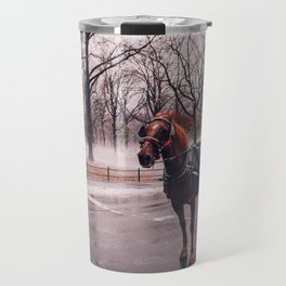 NYC Horse and Carriage Travel Mug