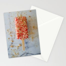 Strawberry Ice Cream Stationery Cards