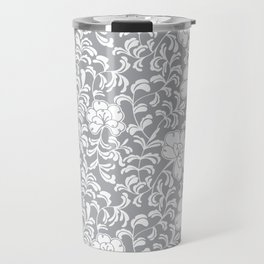Japanese garden in grey Travel Mug