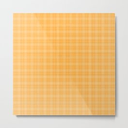 Bright Chalky Pastel Orange Tartan Plaid Metal Print