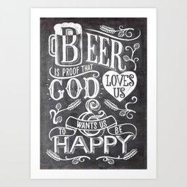 god wants us to be happy Art Print