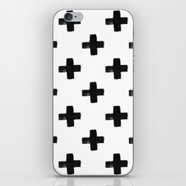 Crosses Modern Monochrome Minimalism iPhone Skin
