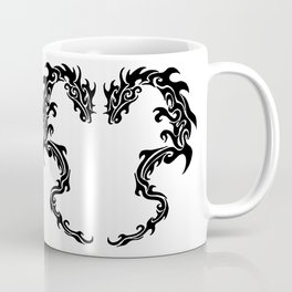 Two Tribal Dragons Coffee Mug