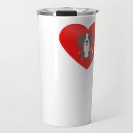 LOVE Bernese Mountain Dog Cute Dog Gift Idea Travel Mug