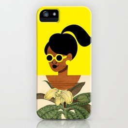 Ponytail Girl with Nature Shirt iPhone Case