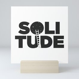 HAPPY SOLITUDE (B&W) Mini Art Print