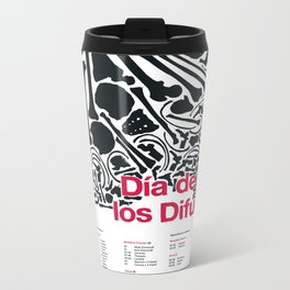 Día de los Difuntos (Day of the Dead) Metal Travel Mug