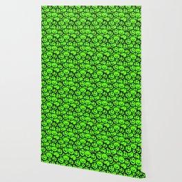 Smiley Face Slime Green Wallpaper