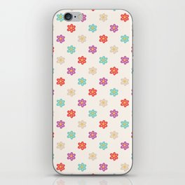 Abstract ivory teal orange violet cute floral iPhone Skin