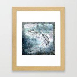 Fishing swordfish Framed Art Print
