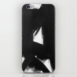 No. 92 - Modern abstract black and white textured painting iPhone Skin