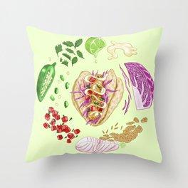 Fish Taco Diagram Throw Pillow