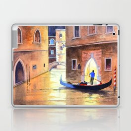 Venice Italy Evening Gondola Ride Laptop & iPad Skin
