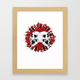 Grunge Screaming Skulls Framed Art Print
