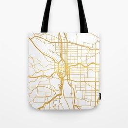 PORTLAND OREGON CITY STREET MAP ART Tote Bag