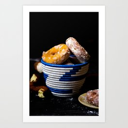 Donuts in a Basket Art Print