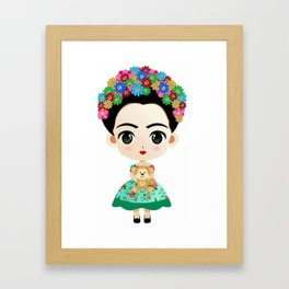 Frida Cartoon Framed Art Print