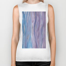 Touching Purple Blue Watercolor Abstract #2 #painting #decor #art #society6 Biker Tank