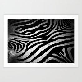 Zebra rug decor Art Print