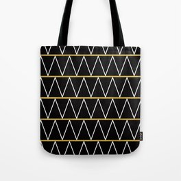 Black and gold zigzag Tote Bag