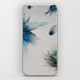 floating florals iPhone Skin