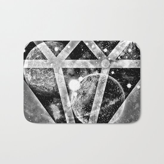 Diamond in the sky Bath Mat