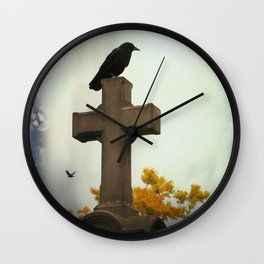 Gothic Glow Of Fall Wall Clock