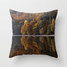 Autumn Lake Throw Pillow