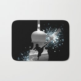 Let The Music Play - Black and White Bath Mat