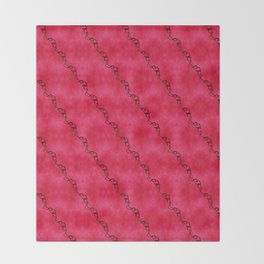 Red Ribbon Throw Blanket