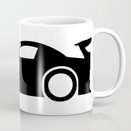 Race Car Silhouette Coffee Mug