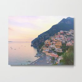Positano Italy Sunset Metal Print
