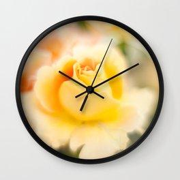 Rose yellow Wall Clock