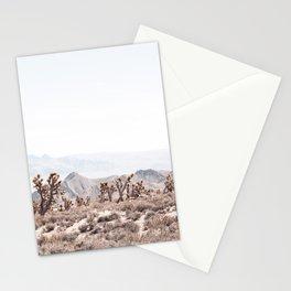 Joshua Tree II // Vintage Desert Landscape Cactus Southwest Mountains Stationery Cards
