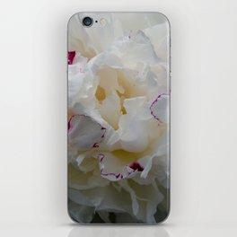 White peony iPhone Skin